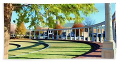 Beach Towel featuring the photograph Newnan Park Ampitheatre by Roberta Byram