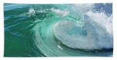 Newport Beach Wave Curl Beach Towel by Eddie Yerkish
