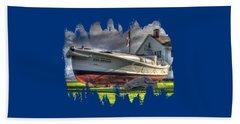 Newport Coast Guard Station Beach Towel by Thom Zehrfeld