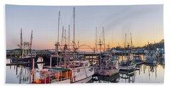 Newport Harbor At Dusk Beach Towel