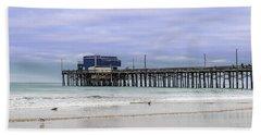 Newport Pier Beach Towel by Jeremy Farnsworth
