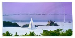 Newport Water Color Effect Beach Sheet by Tom Prendergast