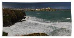 Newquay Squalls On Horizon Beach Sheet