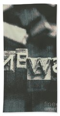 Newspaper Printing Press Art Beach Towel