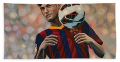 Neymar Beach Towel by Paul Meijering