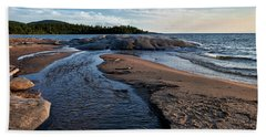 Beach Towel featuring the photograph Neys Delta by Doug Gibbons
