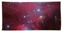 Beach Towel featuring the photograph Ngc 2264 And The Christmas Tree Star Cluster by Eso