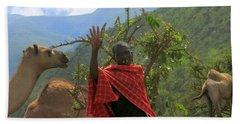 Ngorongoro Herder Beach Towel