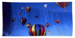 Niagara Balloons - Fantasy Art Collage Beach Sheet by Art America Gallery Peter Potter