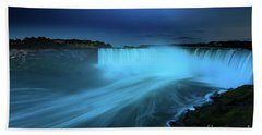Niagara Falls And Moon  Beach Towel