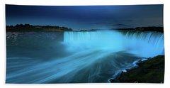Niagara Falls And Moon  Beach Sheet