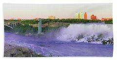 Niagara Falls At Dusk Beach Sheet