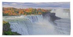 Niagara Falls In Autumn Beach Sheet