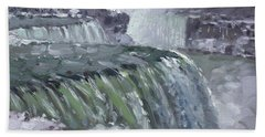 Niagara Falls In Winter  Beach Towel