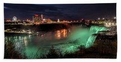 Niagara Falls Night View Beach Towel