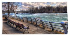Niagara Rapids In Early Spring Beach Towel