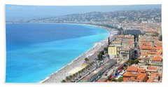 Nice France Coastline Beach Towel