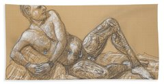 Nick Reclining Beach Towel by Donelli  DiMaria