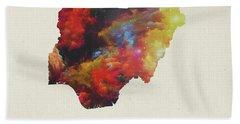 Nigeria Watercolor Map Beach Towel