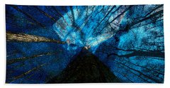 Beach Towel featuring the painting Night Angel by David Lee Thompson