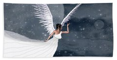 Night Angel Beach Towel