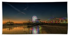 Night At The Pier Beach Towel