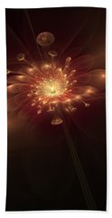 Beach Sheet featuring the digital art Night Bloom by Svetlana Nikolova