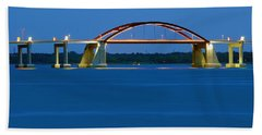Night Bridge Beach Towel