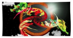 Night Dragon Beach Towel