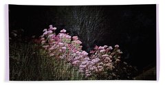 Beach Towel featuring the photograph Night Flowers by YoMamaBird Rhonda