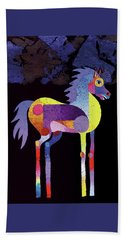 Night Foal Beach Towel by Bob Coonts
