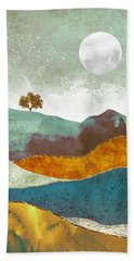 Night Fog Beach Towel