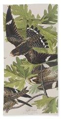 Night Hawk Beach Towel by John James Audubon