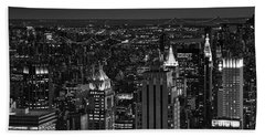 Night In Manhattan Beach Towel