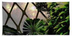 Night In The Arboretum Beach Towel