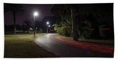 Beach Towel featuring the photograph Night In The Park by Dubi Roman