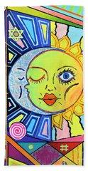 Night Kisses Daylight Beach Towel by Jeremy Aiyadurai