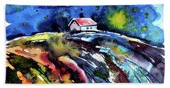 Beach Sheet featuring the painting Night by Kovacs Anna Brigitta