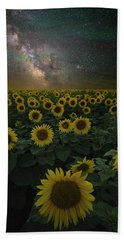 Beach Sheet featuring the photograph Night Of A Billion Suns by Aaron J Groen