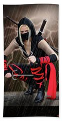 Night Of The Ninja Beach Towel