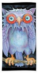 Night Owl Beach Towel