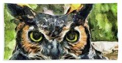Night Owl Beach Sheet by Trish Tritz