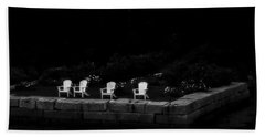 Night Sitting Beach Towel by Richard Bean
