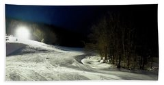 Beach Towel featuring the photograph Night Skiing At Mccauley Mountain by David Patterson