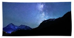 Night Sky In David Thomson Country Beach Towel by Dan Jurak