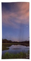 Night Sky Over Maine Beach Towel