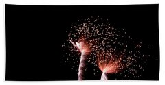 Beach Towel featuring the photograph Night Sparklers by Suzanne Luft