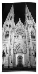 Night St Patrick's Cathedral  Beach Towel
