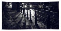Beach Sheet featuring the photograph Night Street Of Prague by Jenny Rainbow