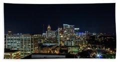 Night View  Beach Towel